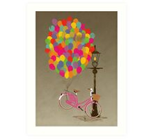 Love to Ride my Bike with Balloons even if it's not practical. Art Print