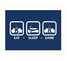 Eat, Sleep, Game (Console Version) Art Print