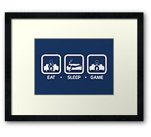 Eat, Sleep, Game (Console Version) Framed Print