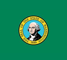 Iphone Case - State Flag of Washington III by Mark Podger