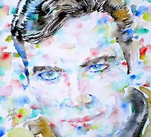 JAMES T. KIRK - watercolor portrait by lautir