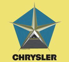 Chrysler Pentagram Pyramid Pentagon Esoteric Automotive Symbol Logo Kids Clothes
