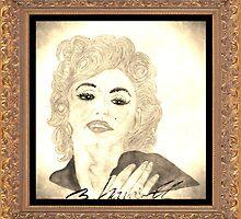 Maradonna In Between Of Maralyn Manroe And Madonna Vintage by sylviahowarth