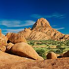 Spitzkoppe  mountain landscape of granite rocks by travel4pictures