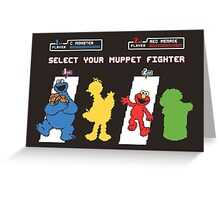 Muppet Fighter Greeting Card