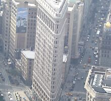Aerial View of Flatiron Building, As Seen From Empire State Building Observation Deck, New York City City by lenspiro
