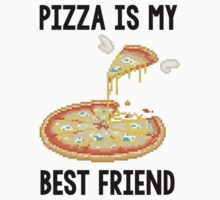 Pizza is my best friend tee by Alisha Mumby