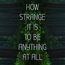 How Strange It Is To Be Anything At All by Good Sense