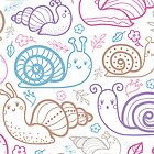 Cute little snails pattern by oksancia