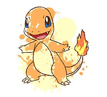 Charmander Splatter Photographic Print