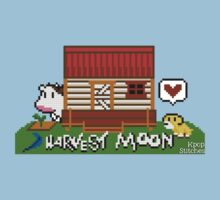 Harvest Moon (SNES) cross stitch design by dubukat