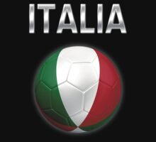 Italia - Italian Flag - Football or Soccer Ball & Text 2 by graphix