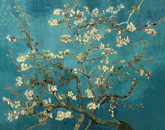Blossoming Almond Tree, famous post  impressionism fine art oil painting by Vincent van Gogh.  by naturematters