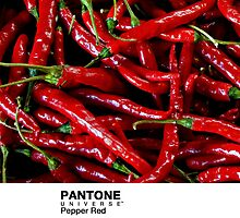 Real Life Pantone: Pepper Red by coffeespoon