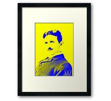 Nikola Tesla [Yellow Blue] | Wighte.com Framed Print