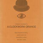 A Clockwork Orange minimalist movie poster by OurBrokenHouse