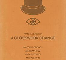 A Clockwork Orange minimalist movie poster by OurBrokenHouse