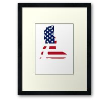 Sexy American Silhouette Framed Print