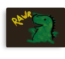 Halloween: Dino says RAWR Canvas Print