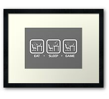 Eat, Sleep, Game (PC Version) Framed Print