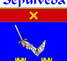 Sepulveda Coat of Arms/Family Crest Sticker