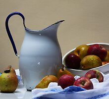 Pitcher with Apples and Pears Still Life by TerrillWelch