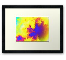 Complementary explosion Framed Print
