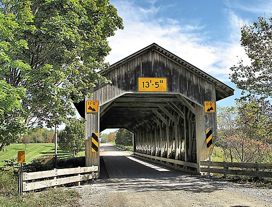 Caine Road Covered Bridge by Monnie Ryan