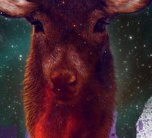 Galaxy Stag Sticker