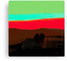 Sunset at Egremni  Canvas Print