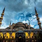 Illuminated: Blue Mosque in Istanbul, Turkey  by thewaxmuseum