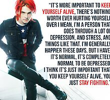 Gerard Way Quote #8 by DangerLine