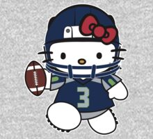 Hello Kitty Loves Russell Wilson & The Seattle Seahawks! by endlessimages
