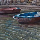 Working boats by Freda Surgenor