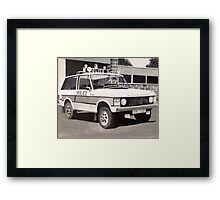 Range Rover Police Car Framed Print