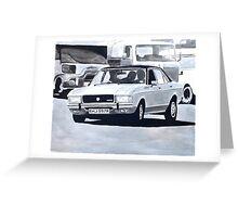 'The Sweeney' Ford Granada 3.0 Ghia Greeting Card