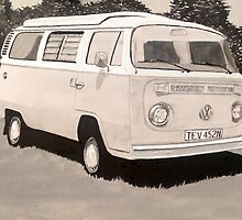 VW Type 2 Campervan by sidfox