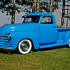 1950 Chevrolet truck Baby Blue by Randy & Kay Branham