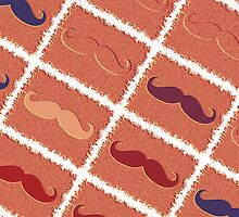 Funny Girly Mustache 6 by Nhan Ngo