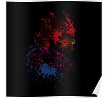 Paint Splatter Street Fighter: Akuma Poster