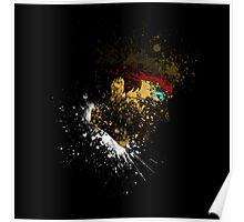 Paint Splatter Street Fighter: Ryu Poster