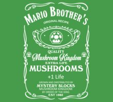 Mushroom Kingdom's Green Mushrooms by Alex Pawlicki