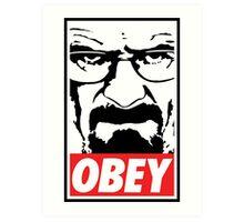 Obey Heisenberg Art Print