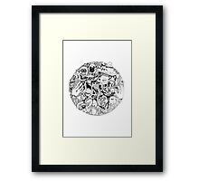Intricate detailed circle Framed Print