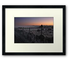 Frosty Dawn Framed Print