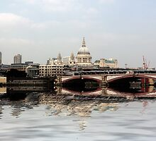 Blackfriar's Bridge and St Paul's by Lynn Bolt