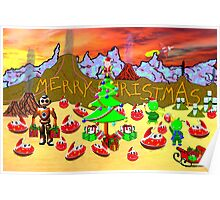 A Christmas Party on the Flying Saucer Frog Planet Poster