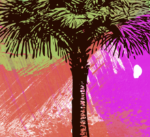 Grunge Palm Tree Summer T-Shirt Sticker