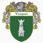 Vazquez Coat of Arms/Family Crest by William Martin