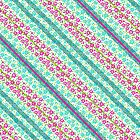 Daisy Stripe_Blue and Pink by kellabell9